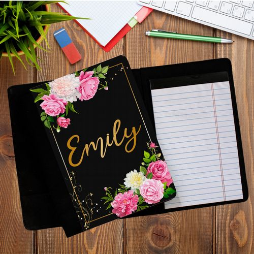 Personalised ANY NAME Floral Notepad Notebook with paper N12